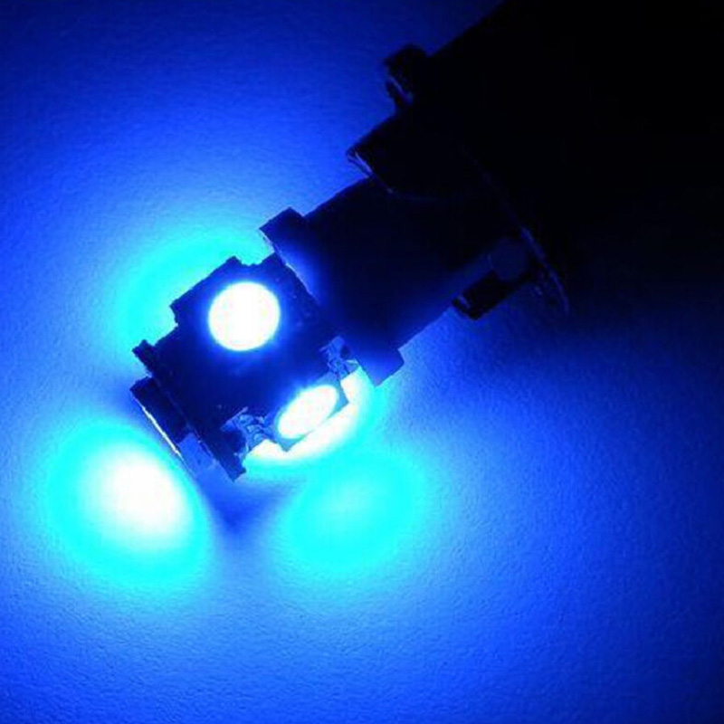 10pcs Car Interior Light T10 Wedge 5-SMD 5050 Xenon LED Light Bulbs 12V Blue Super Bright T10 LED Light Lamp Bulb