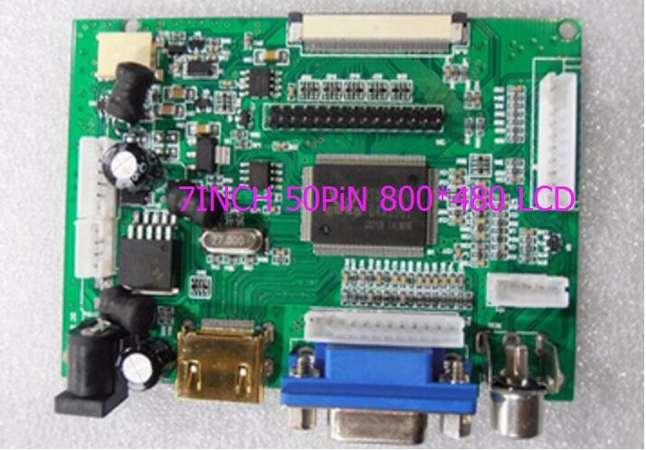 купить LCD Display TTL LVDS Controller Board HDMI VGA 2AV 50PIN 800*480 for AT090TN10 AT070TN94 92 90 Support Automatically VSTY2662-V1 по цене 802.37 рублей