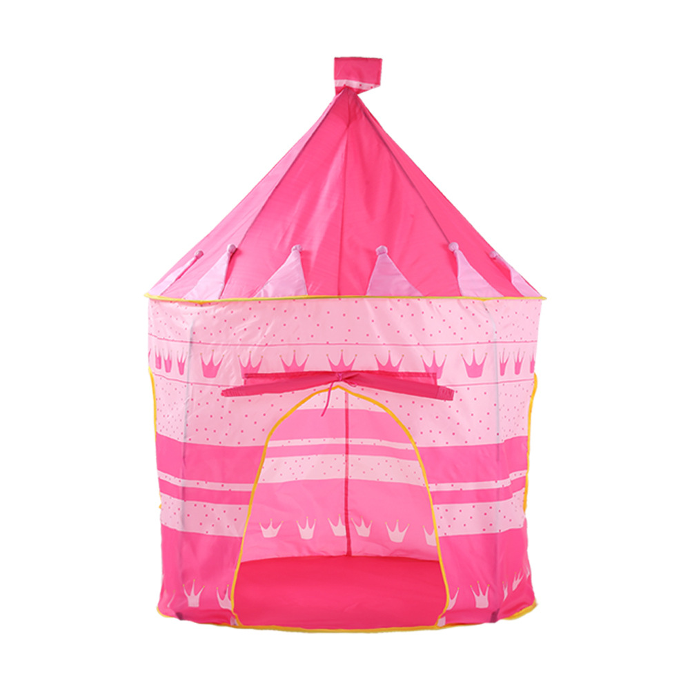 YARD Foldable Castle Tent For Kids Children Pink Purple 105*135cm Portable Teepee Tents Castle Playhouses Toy Tents Garden Kids