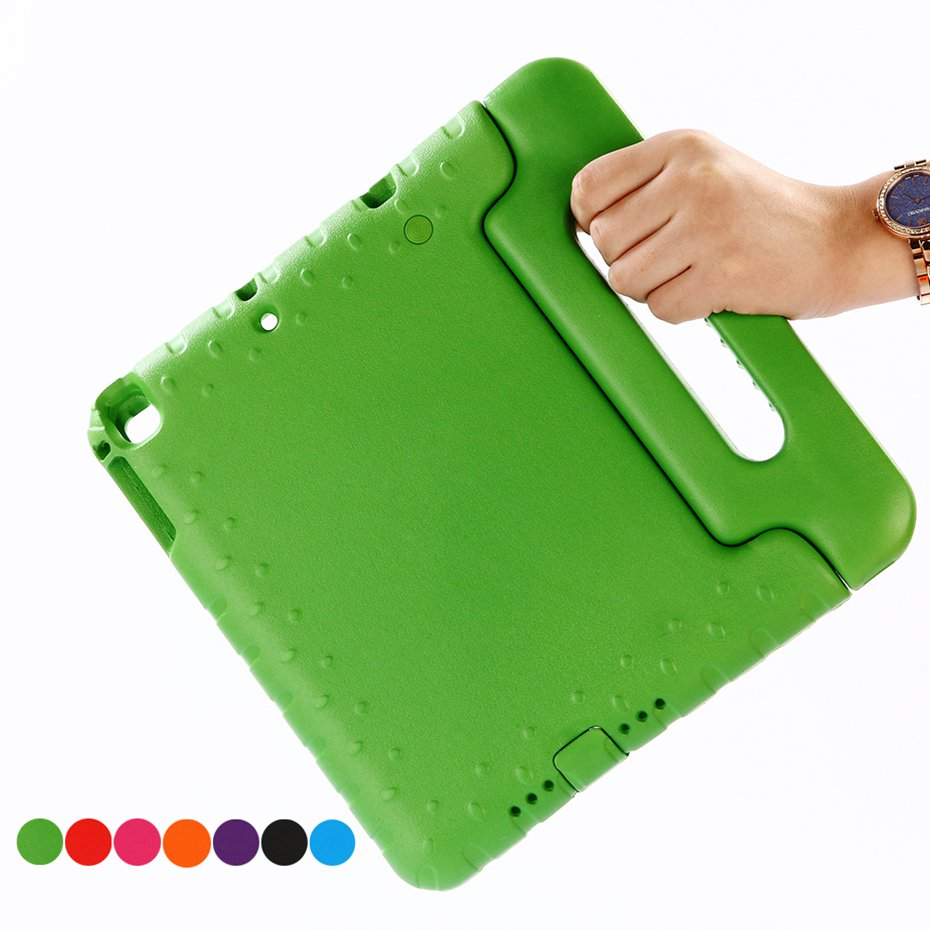 все цены на  Case for ipad air / air 2 / iPad 2017 case 9.7 inch hand-held Shock Proof EVA full body cover Handle stand case for kids  онлайн