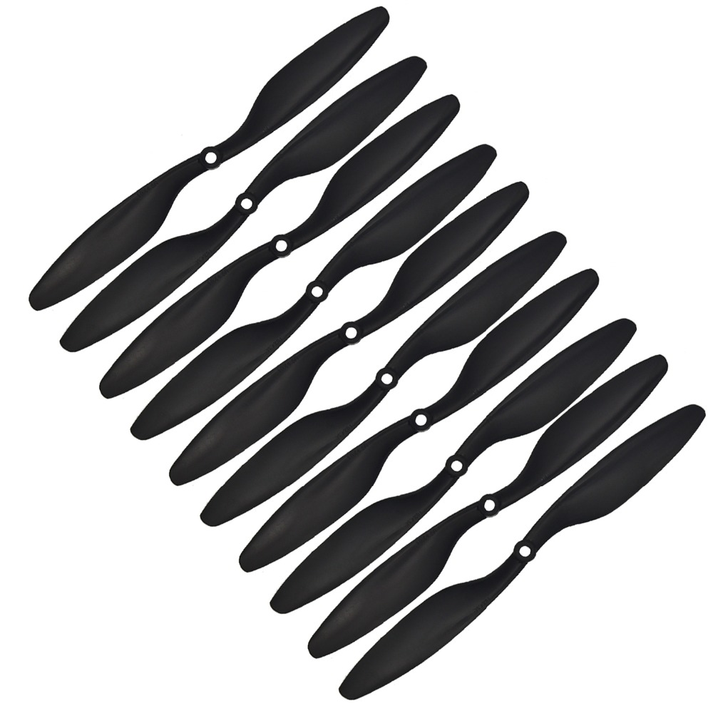 2017 5 Pairs 10x4.5 Cw/ccw 1045 Props Propeller For Multicopter drone Airplanes Plastic Prop Black rc quadcopter t motor 1255 three hole carbon fiber propeller cw ccw for rc aircraft 2 pairs