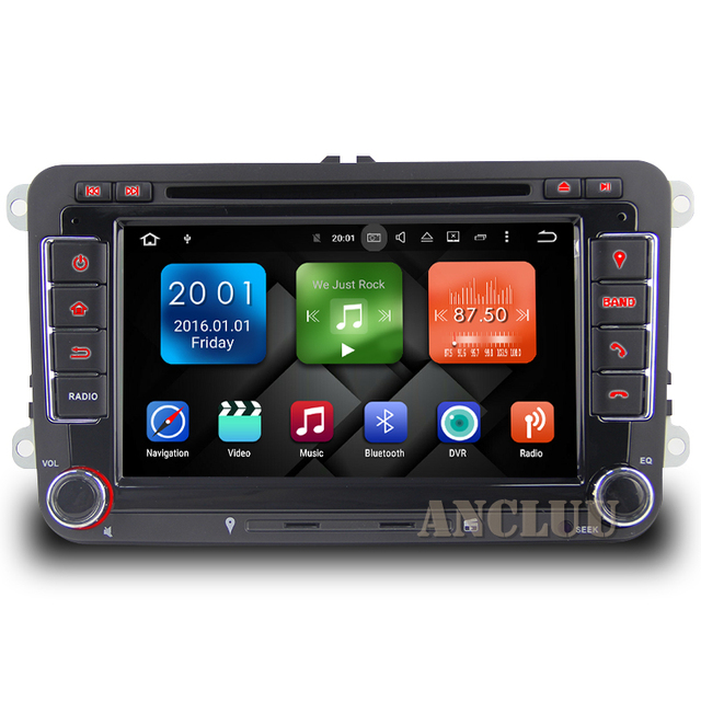 Two Din Android 8.1 VW DVD Player GPS Navigation For VW Beetle Caddy CC Golf Polo Jetta Tiguan T5 car radio gps stereo 2G RAM