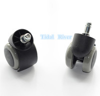 2PCS Dentist Chair Rubber Replacement Swivel Wheel Office Chair Caster