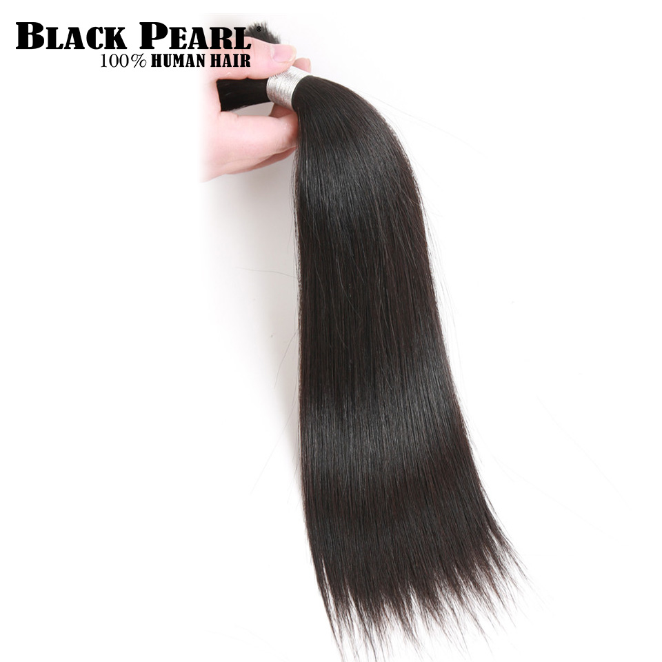 Hair Weaves Hair Extensions & Wigs Amicable Black Pearl Pre-colored Brazilian Straight Human Hair Bulk For Braiding 1 Bundle Remy Bulk Hair Braids Hair Extension Deal