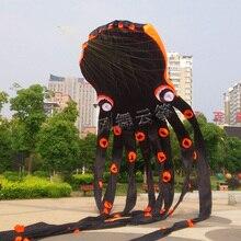 Windsock sport ripstop black paul cuttles Осьминог Кайт кайтсерф трюк воздушный змей летающие игрушки pipa volante parafoil малыш мягкий воздушный змей бар