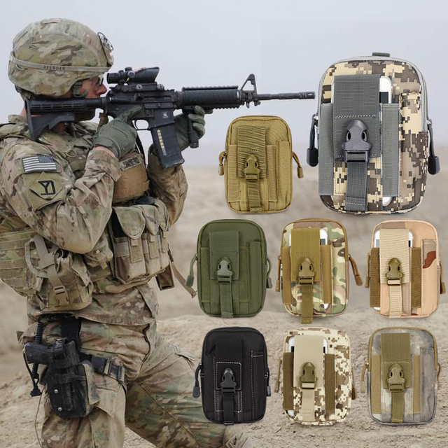 1pc Empty Bag for Emergency Kits First Aid Kit Military Waist Camouflage Fanny Pack Bum Belt Bag Travel Tactical Molle Pouches