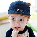 Быстрый/Бесплатная Доставка Новое Прибытие Корейский Милые Прекрасные Дети Детские младенческой Hat Мода Детские Вс-Спички Дети Шапки Регулируемые осень