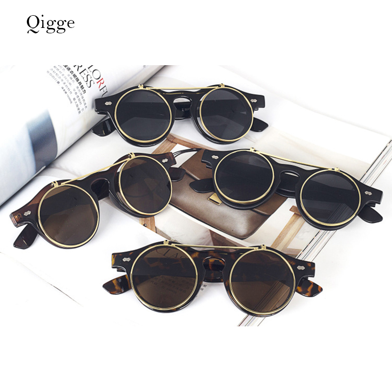 Qigge Fashion Vintage Putaran Retro SteamPunk Sunglasses Klasik - Aksesori pakaian - Foto 2