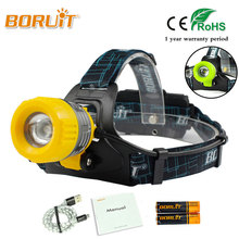 BORUIT 8000Lm XML T6 LED Headlight White Light 4 Modes Headlamp For Fishing Hunting Zoomable Waterproof 18650 Battery Head Torch