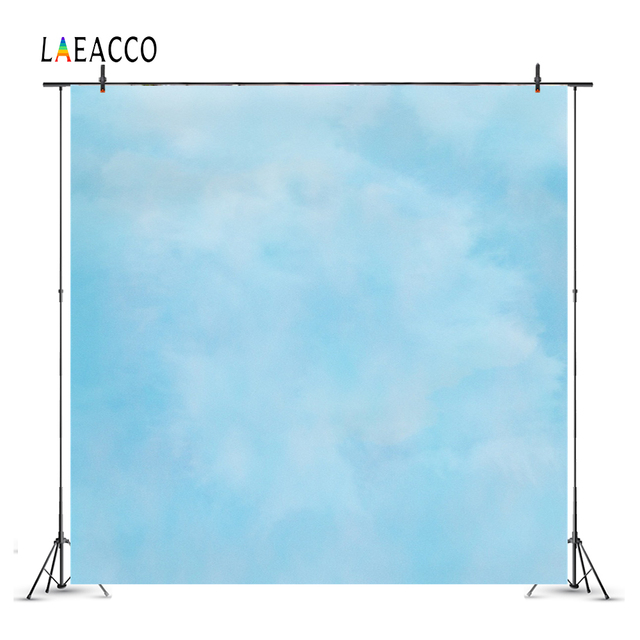 Laeacco Cloudy Gradient Color Portrait Baby Newborn Photography Backgrounds Customized Photographic Backdrops For Photo Studio