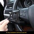 2 шт.  декоративная рамка из углеродного волокна на руль  отделка интерьера  отделка для BMW X5 E70 2008-2013