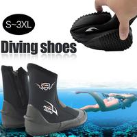KEEP DIVING 5MM Neoprene Scuba Diving Boots Water Shoes Vulcanize Winter Cold Proof Warm Fins Spear Fishing Shoes