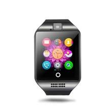 Q18 apro Apoyo TF Tarjeta SIM Reloj Inteligente Reloj Bluetooth 1.5 NFC Cámara Deporte Podómetro de Pulsera Para iPhone Smartphone Android