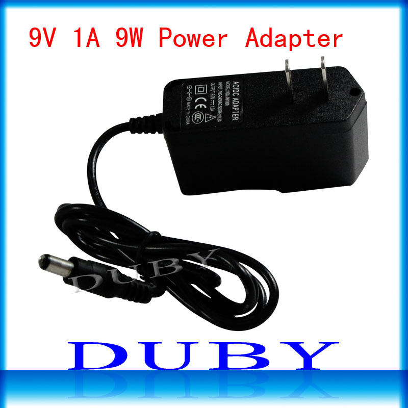 100Pcs/lot 9V1A New AC 100V 240V Converter power Adapter DC 9V 1A 1000mA Power Supply EU/US Plug DC 5.5mm x 2.1mm Free Fedex-in AC/DC Adapters from Home Improvement    1