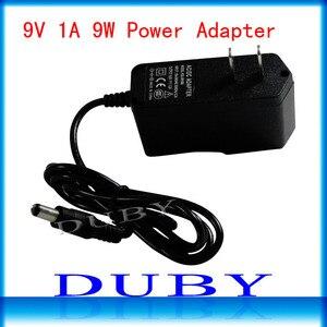 Image 1 - 100Pcs/lot 9V1A New AC 100V 240V Converter power Adapter DC 9V 1A 1000mA Power Supply EU/US Plug DC 5.5mm x 2.1mm Free Fedex