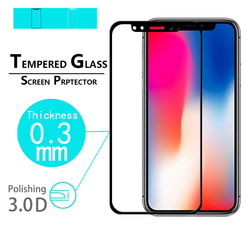 Original 5D Curved Edge Full Cover Tempered Glass film For <font><b>iphone</b></font> X glass film For <font><b>iphone</b></font> ten 10 <font><b>A1865</b></font> 5.8