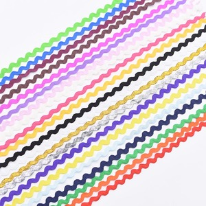 5/25m 0.5cm Colorful Curve Wavy Lace Trim S Shaped Lace Ribbon Handmade Costume Hat Curtain Pillow Decorations DIY Sewing Crafts