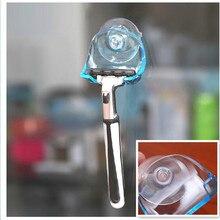 MOONBIFFY 1Pcs Clear Blue Plastic Super Suction Cup Razor Rack Bathroom Razor Holder Suction Cup Shaver
