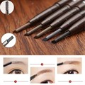 5 Colors Beauty Women Waterproof Eye Brow Black Brown Eye Liner Eyebrow Pencil With Brush Long Lasting Makeup Cosmetic Tools Pen