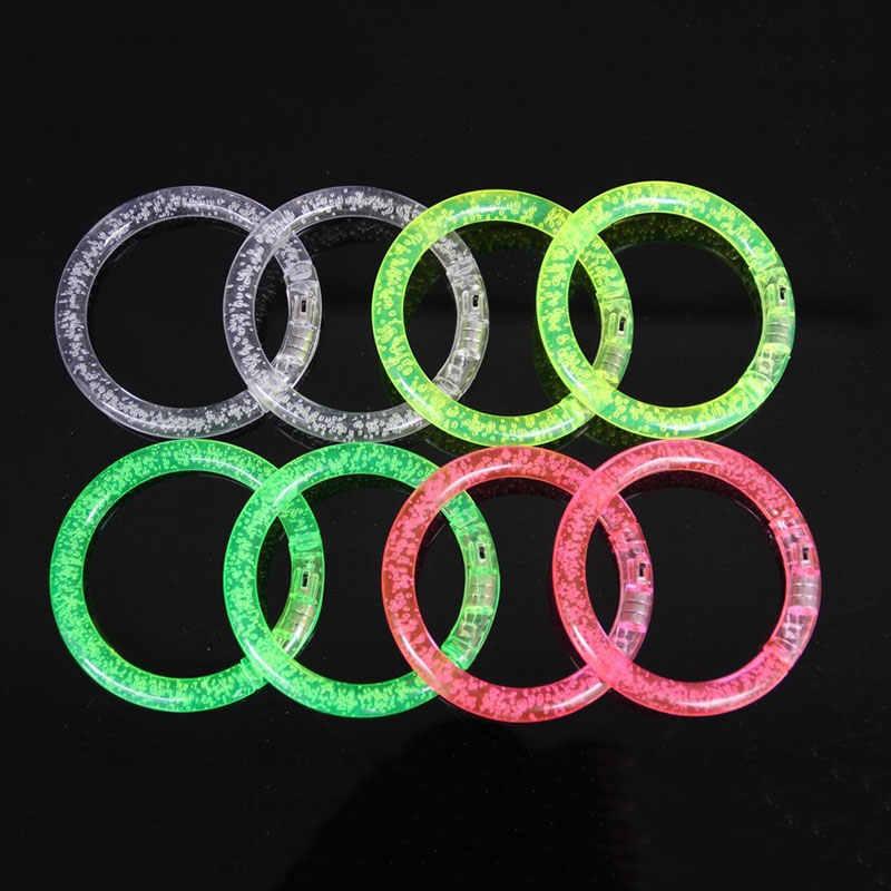 Светодиодный сверкающий браслет светящийся акриловый браслет вечерние бар Chiristmas светящийся браслет люминесцентные игрушки для детей