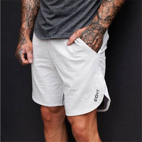 2017 Top Quality Men Casual Brand Gyms Fitness Shorts Mens Professional Bodybuilding Short Pants Sweatpants Fitness