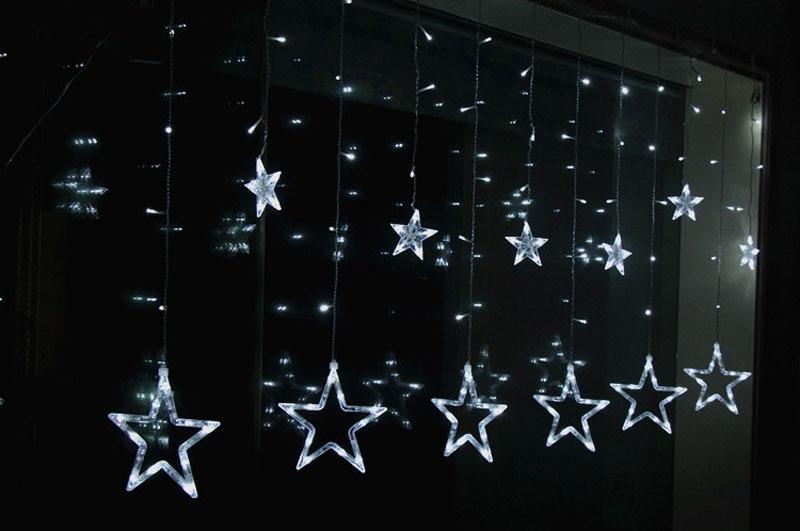 Silver Star Fil Christmas Garland 1 3 ou 5 Étoile de Noël Guirlande Décorations