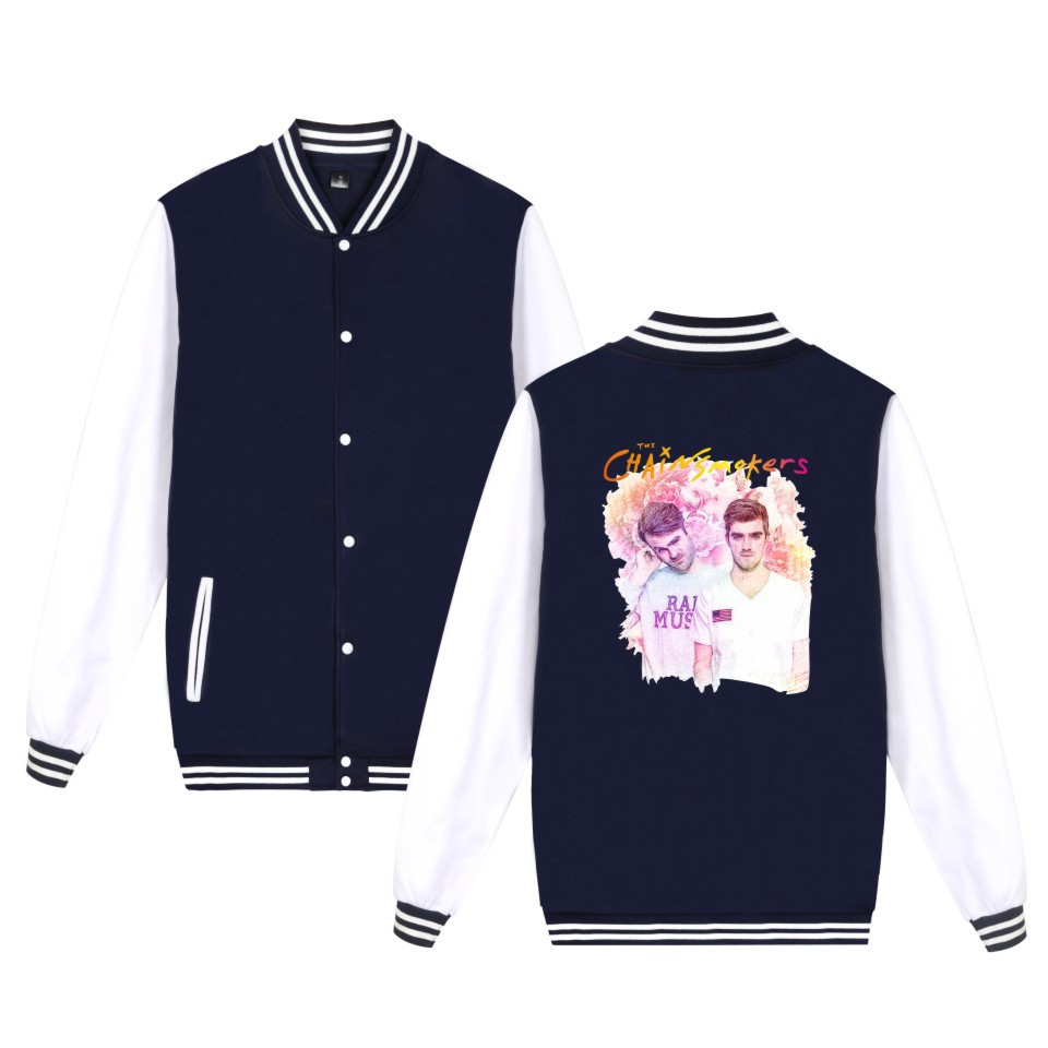 The Chainsmokers Jacket Fashion Men Women Cotton Baseball Uniform