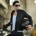 O Envio gratuito de 2017 Homens Marca de Alta Qualidade Da Motocicleta PU Jaquetas De Couro do Inverno Dos Homens Casaco De Pele Jaqueta de Motoqueiro de Couro dos homens jaqueta