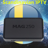 MAG250 IPTV Box Linux System With Europe/Sweden/French/Germany/Italy/XXX 4000+ Scandinavian channels set top box