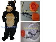Custom made Deluxe Black Bear mascot costume cartoon by express free shippin