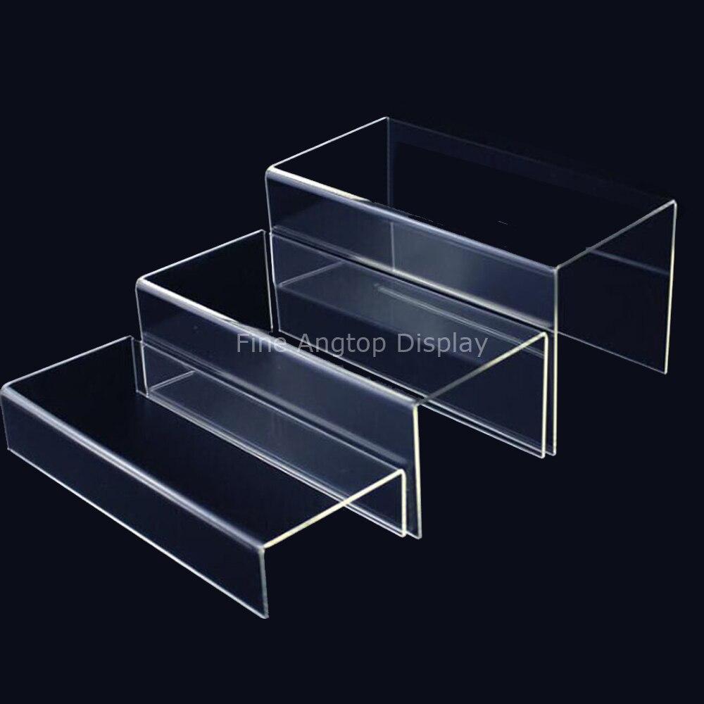 3 x 3 x 2 Inch 5 x 5 x 4 Inch 4 x 4 x 3 Inch Jewelry Display Stand Blulu 6 Pieces Clear Acrylic Display Risers Acrylic Shelf Showcase Fixtures