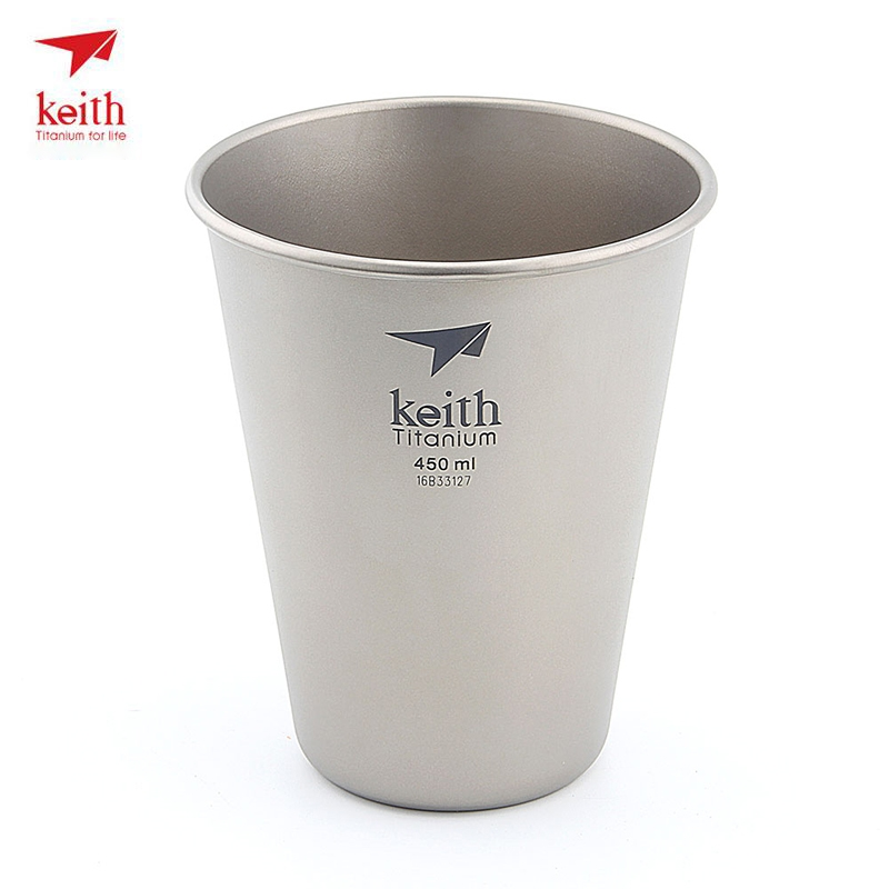 Keith Titanium Beer Cup Mugs Coffee Mug Metal Outdoor Drinkware For Camping Hiking Travel Pure Titanium Coffee Cup Beer Ti9002
