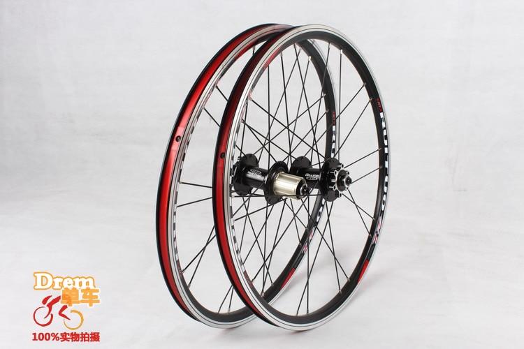 20inch RT *1-3/8 V /disc Brake Front 2 Rear 5 Bearing Ultra Smooth light  451/406 wheel wheels For BXM folding bike