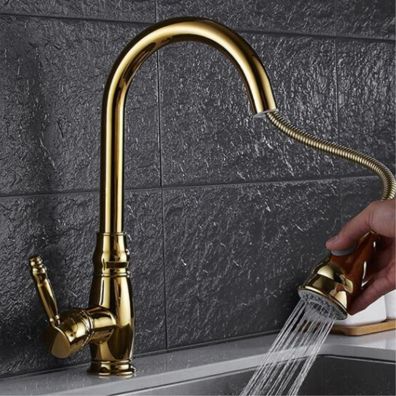 Kitchen Mixer Pull Out Decked Mount Kitchen Sink Faucet Mixer Cold Hot Water Grifo Torneira Cozinha Rotate pull out shower head jomoo brass kitchen faucet sink mixertap cold and hot water kitchen tap single hole water mixer torneira cozinha grifo cocina