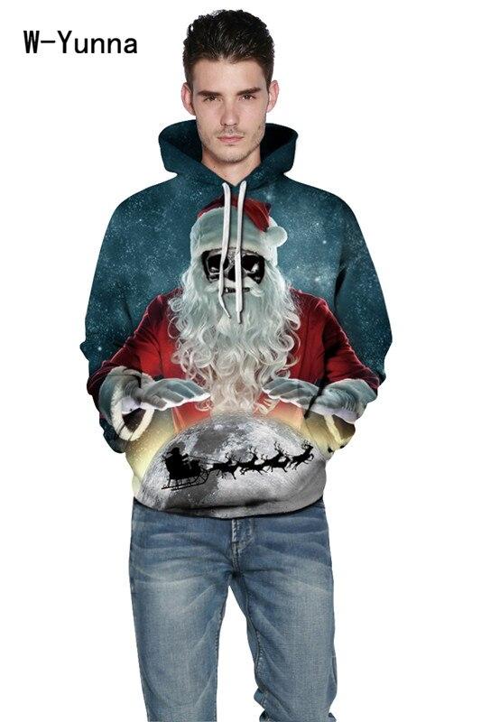 Christmas Gift Hoodies Men/women 3d Sweatshirts Santa Claus Print Christmas Hooded Pullovers Thin Hooded Hoodies Tops Moleton