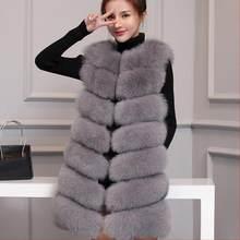 b58a78e1d9520 Vrouwen faux bontjassen 2018 kunstmatige bontjas Zwart Faux Fur Femme Jas  Grote Size 4XL Winter Bovenkleding Gilet Vesten j181