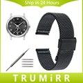 Faixa de relógio milanese para hamilton broadway jazzmaster clássico americano de aço inoxidável strap relógio de pulso pulseira 18mm 20mm 22mm 24mm