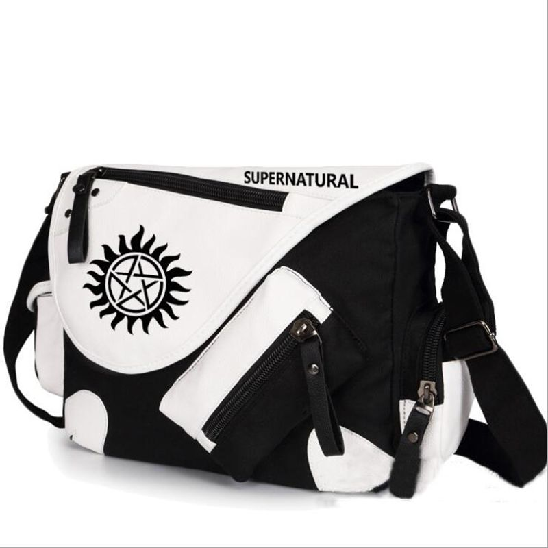 WILD HERO Supernatural SPN Shoulder Bag Messenger Bag teenagers Men women's Student travel School Bag Laptop Bags barex маска блеск olioseta oro di luce 500 мл