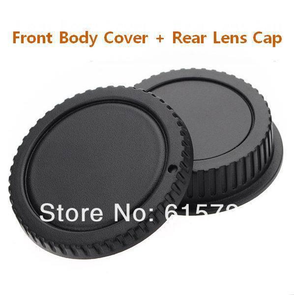 Оптовая продажа 10 пар Крышка корпуса камеры + Задняя крышка объектива для камеры canon 1000D 500D 550D 600D EF EF S Rebel T1i eos