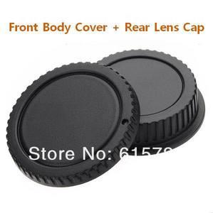 Image 1 - Tapa de Cuerpo de Cámara + tapa de lente trasera para cámara canon 1000D 500D 550D 600D EF EF S Rebel T1i eos, 10 pares, venta al por mayor