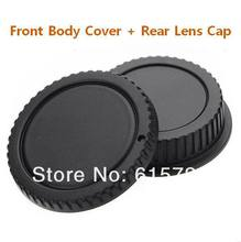 Wholesale 10 Pairs camera Body cap + Rear Lens Cap  for canon 1000D 500D 550D 600D EF EF S Rebel T1i eos Camera