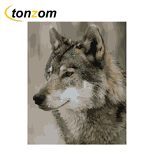 RIHE Wolf Diy Painting By Numbers Animal Oil Painting On Canvas Hand Painted Cuadros Decoracion Acrylic Paint Home Art true nyc® джинсовые брюки
