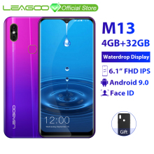 LEAGOO M13 4GB 32GB Quad Core Face Recognition 8mp New Waterdrop-Screen Mobile-Phone