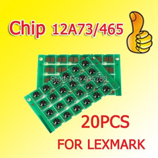 20 pièces 634 puces 12A73/465 puce compatible pour Lexmark T630/632/632n/634 + +