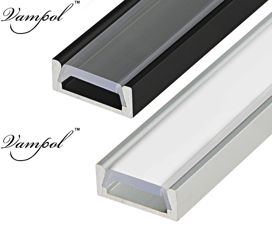 Držáky Vampol Lanpshade přizpůsobené délky Aluminiový kanál - Osvětlovací příslušenství
