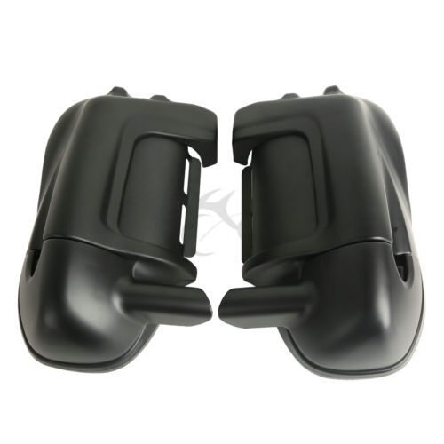 Matte Black Lower Vented Leg Fairings Cap Glove Box For Harley Road King Electra Glide FLHR 98-13
