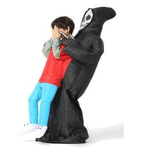 Image 4 - Disfraz inflable de la muerte para niños y adultos disfraz de Halloween, Esqueleto, fantasma