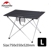 Naturehike factory sell Outdoor Folding Table Ultra light Aluminum Alloy Structure Portable Camping Foldable Picnic Table