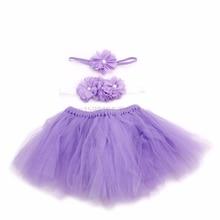 Красивая одежда с цветочным рисунком для маленьких девочек+ повязка на голову+ юбка-пачка; костюм для фотосессии;# H055