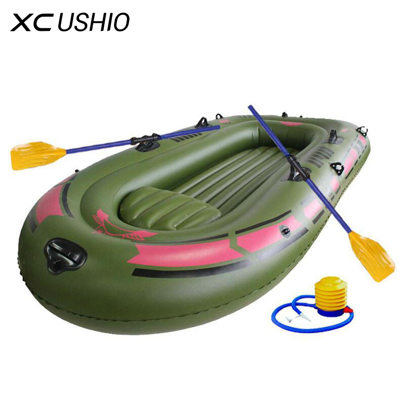 1 Person Inflatable Fishing Boat High Quality Liferaft Rubber Boat 170x100cm PVC Portable Drifting Fishing Boat with Paddles funny summer inflatable water games inflatable bounce water slide with stairs and blowers